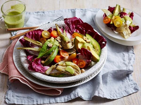 Roasted fennel and radicchio salad