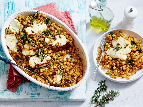 Pumpkin and chickpea ditalini