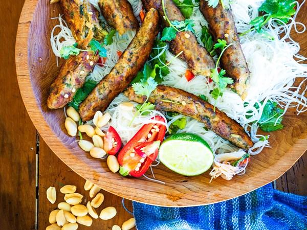 Healthy Thai sausages