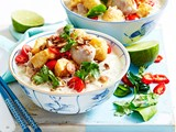Thai lemongrass and coconut chicken soup