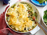 One-pan chicken and vegetable skillet pie