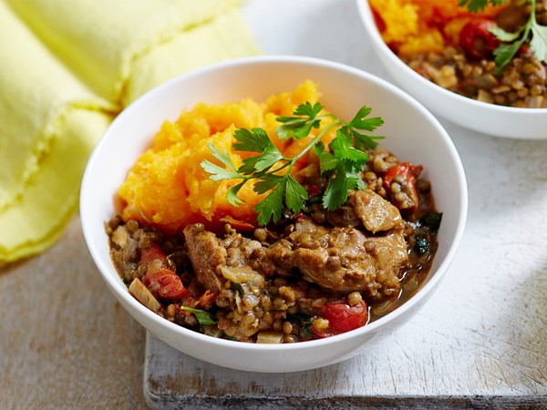 Chicken and lentil casserole