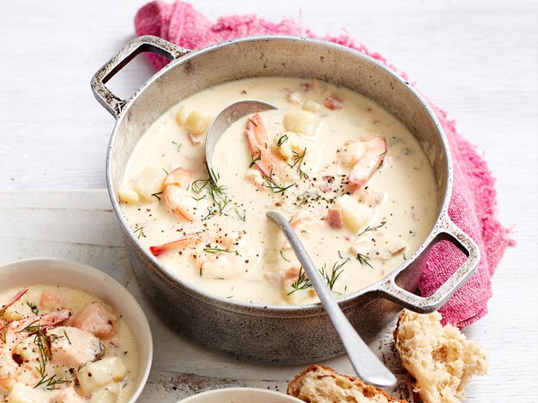 Creamy seafood soup