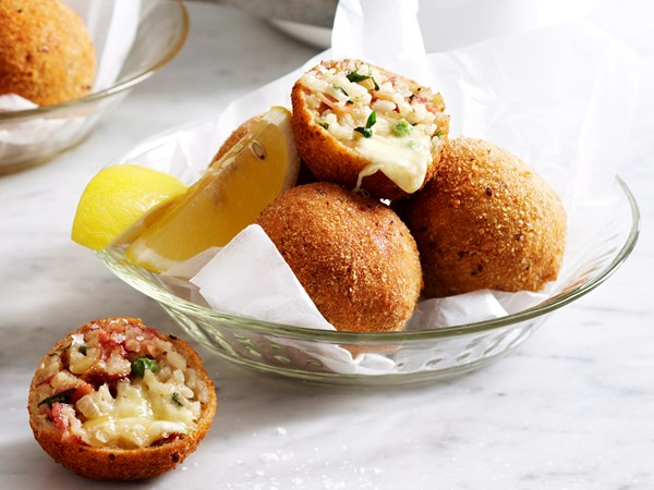Bacon and cheese arancini