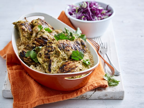 Chermoula chicken thighs
