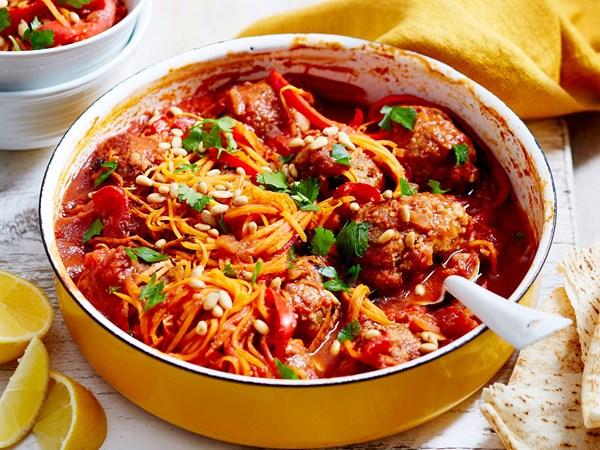 One-pot Turkish lamb meatball kofta casserole