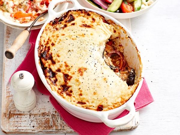 Creamy vegetable moussaka