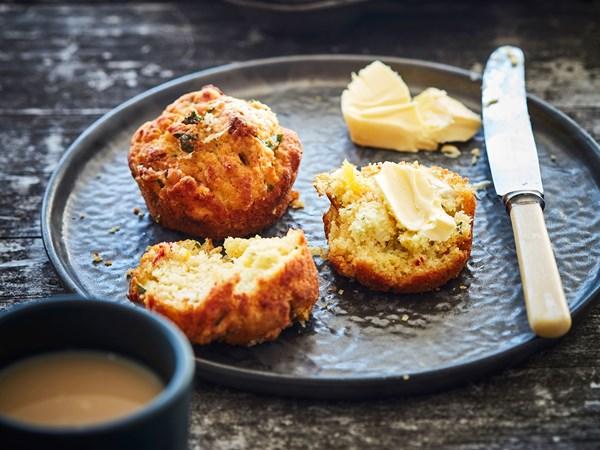 Workmen's savoury vegetarian muffins