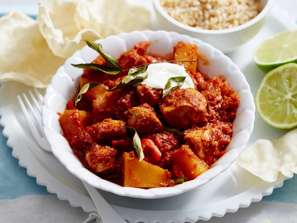 Spicy chicken and pumpkin curry