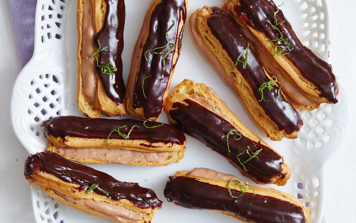 Lime And Chocolate Eclairs recipe | Food To Love