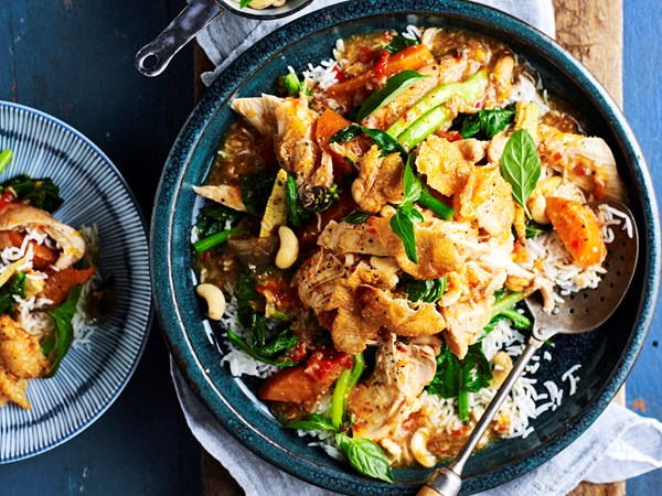 Slow-cooker Thai basil and chilli chicken with cashews
