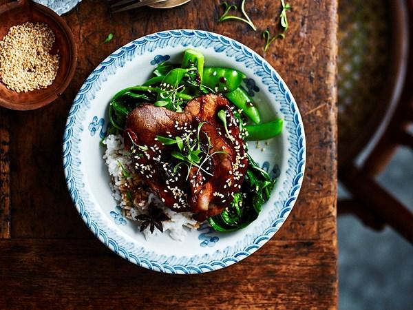 Slow-cooker soy-braised pork