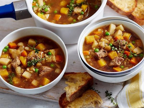 Quick lamb and barley soup