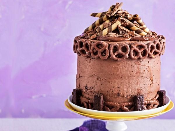 Chocoholics' celebration cake