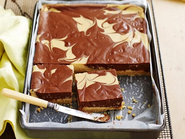 Mocha cheesecake slice