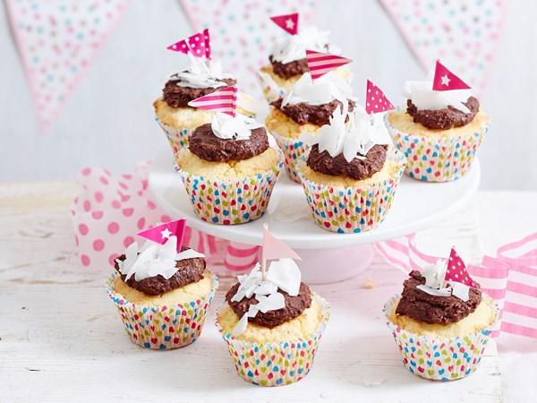 Gluten-free 'lamington' cupcakes