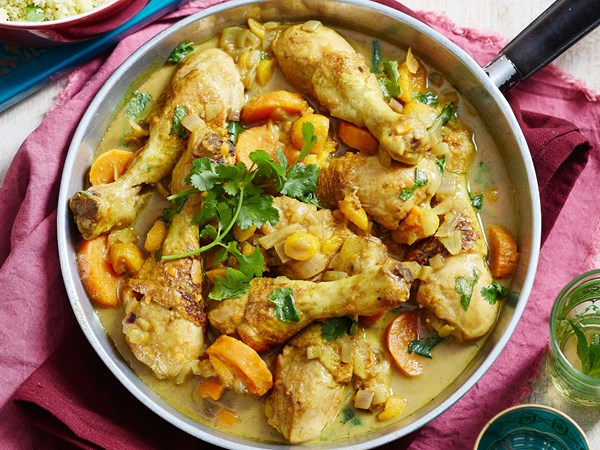Moroccan chicken drumsticks with kumara