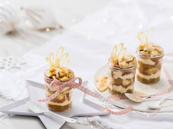 Deconstructed banoffee pie parfaits
