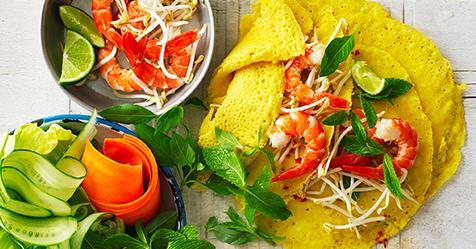 Vietnamese Pancakes With Prawns recipe