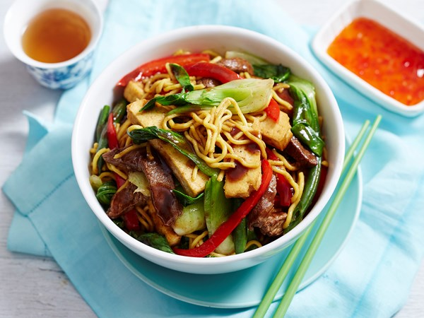 Beef, tofu and black bean stir-fry