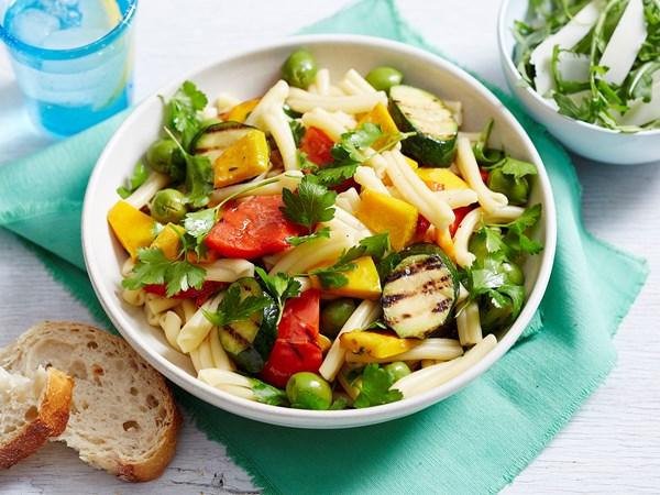 Mediterranean casarecce pasta salad