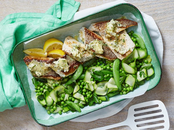 Fish with caper butter