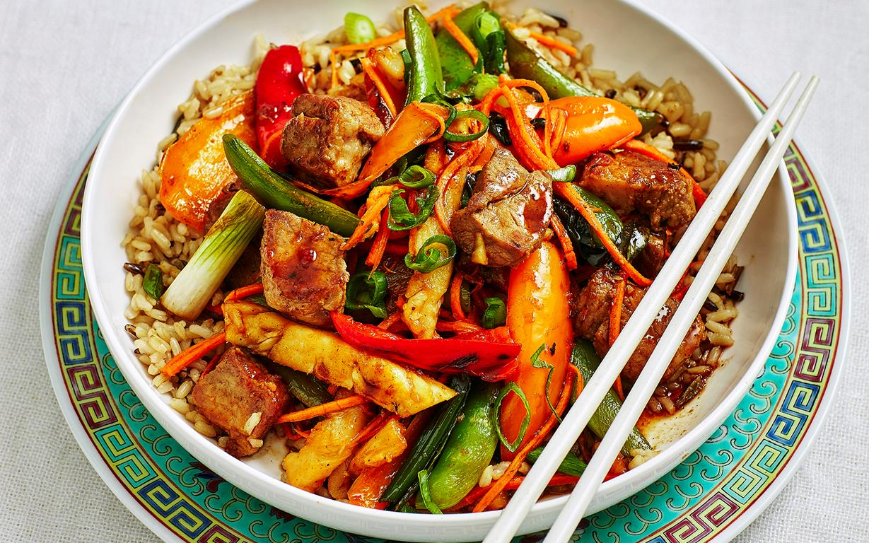 No fuss sweet and sour pork recipe food to love sweet and sour pork stir fry recipe forumfinder Choice Image