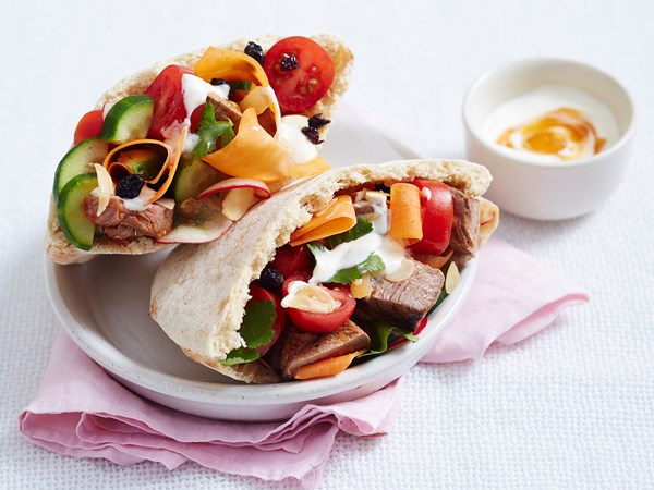 Butter beef pitas