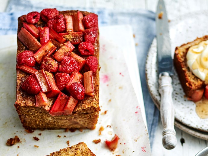 "Another favourite in Sophie's household is her freezer-friendly [rhubarb and raspberry morning loaf recipe](http://www.foodtolove.com.au/recipes/rhubarb-and-raspberry-morning-loaf-34484|target=""_blank"")"