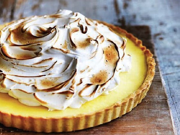 Will and Steve's lemon tart with Swiss meringue