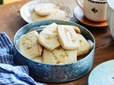 Mum's lemon and ginger shortbread biscuits