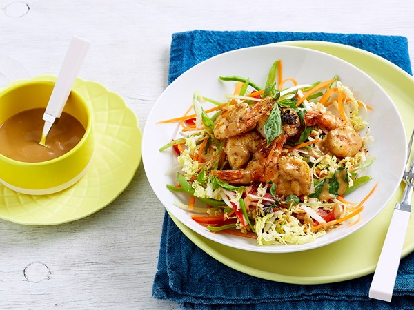 Prawn satay salad