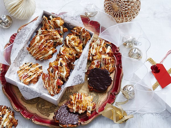 Easy Christmas florentines