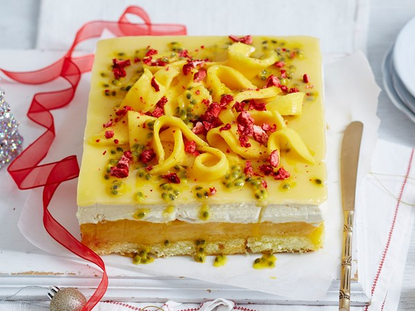 Frozen passionfruit and meringue cake