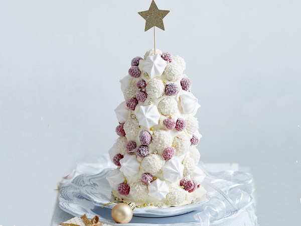 White Christmas ice-cream tree
