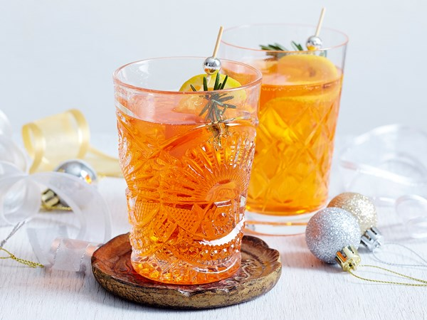 Champagne aperol punch
