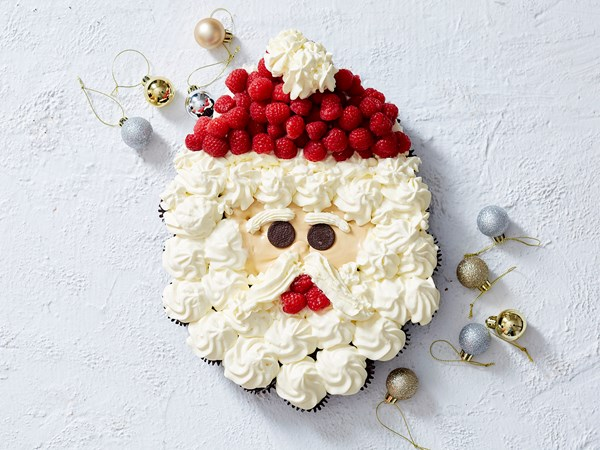 Santa cupcake dessert