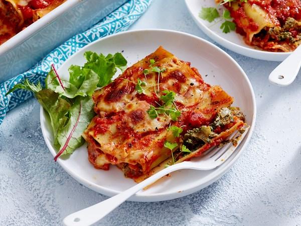 Pumpkin, ricotta and spinach cannelloni