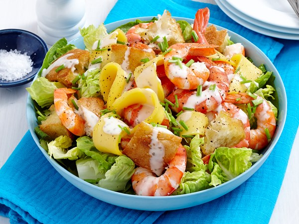 Summer prawn and mango salad