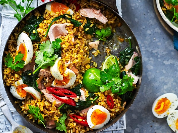 Easy salmon kedgeree