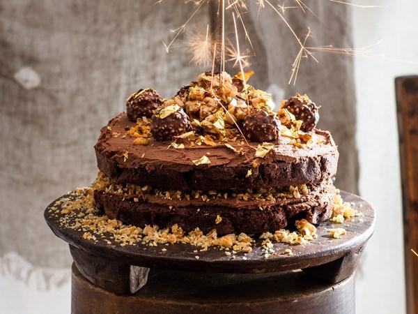 Ferrero Rocher chocolate hazelnut sponge cake