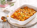 Chunky sausage and fennel pasta bake