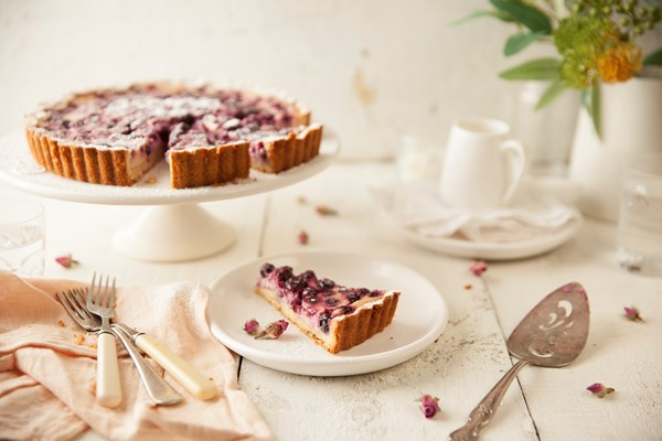 Blueberry yoghurt tart