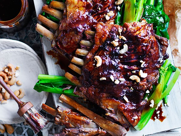 Chinese-style sticky lamb ribs