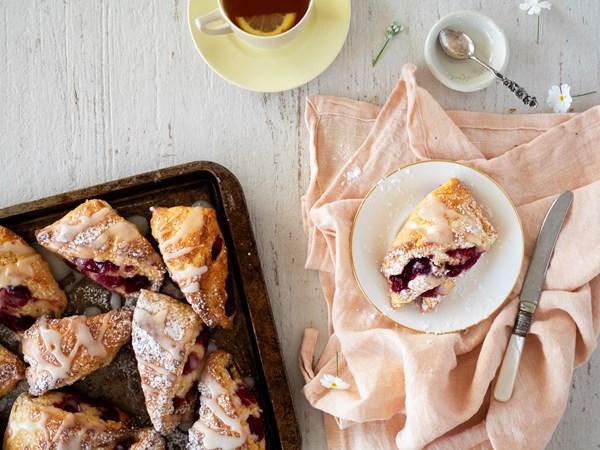Decadent lemon berry shortcakes