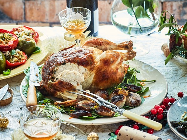 Nici's festive tarragon butter roast chicken