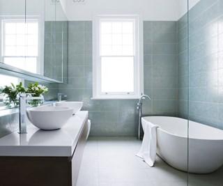 Modern ceramic family bathroom