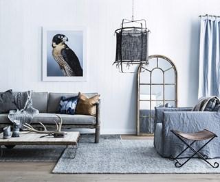 Repurposed timber living room