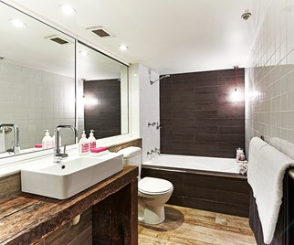 Budget contemporary bathroom renovation