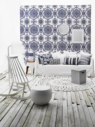 Dutch styled white living room
